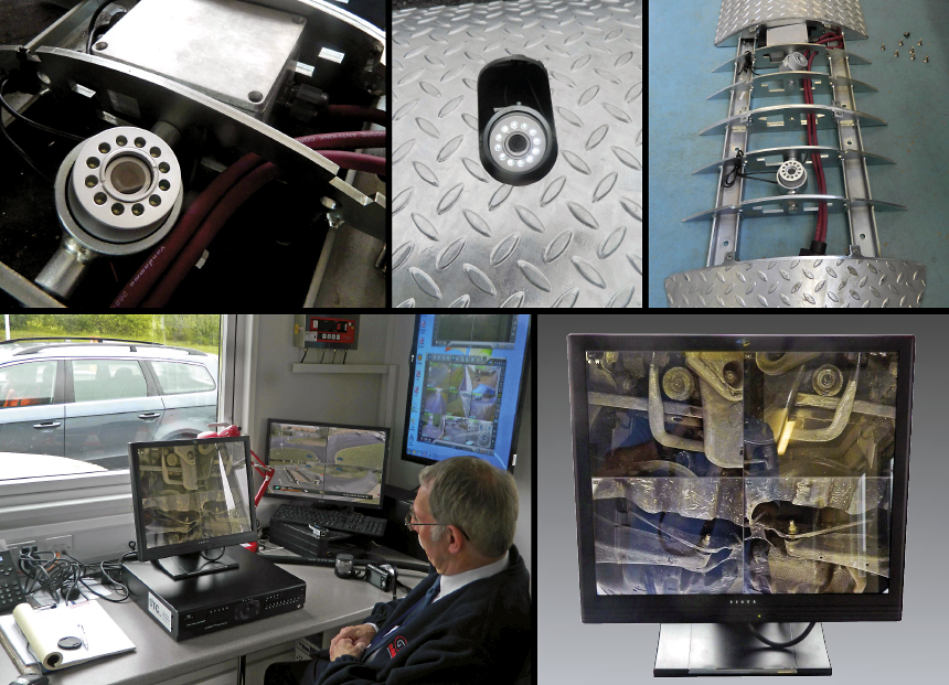 S-COMM Under Vehicle Surveillance System is designed for quick and easy installation